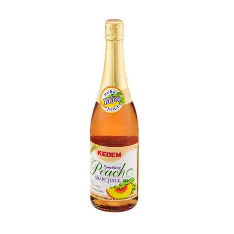 KEDEM - SPARKLING PEACH GRAPE JUICE - 750 ML