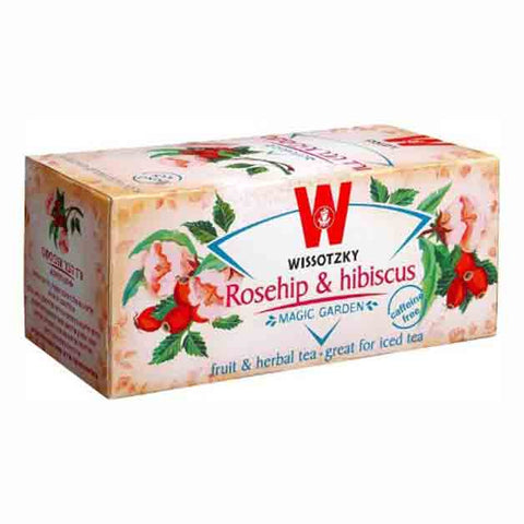 Wissotzky Tea Rosehip and Hibiscus Tea / Box of 20 bags