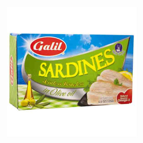 Galil Skinless & Boneless Sardines In Olive Oil