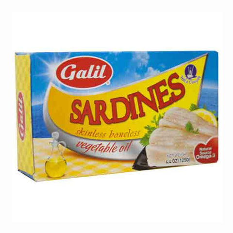 Galil Skinless/Boneless Sardines In Vegetable Oil