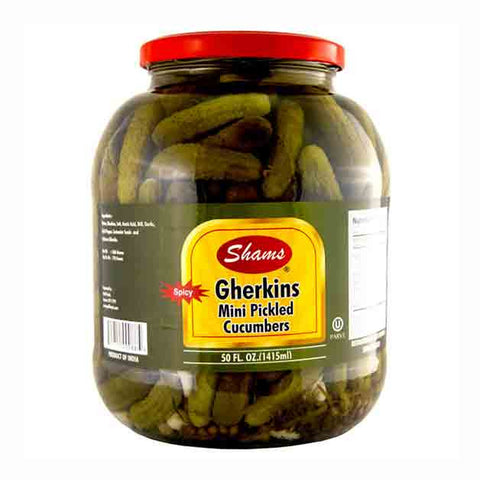 Shams Spicy Gherkins- Mini Pickles Large