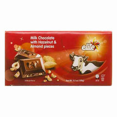 Elite, Milk Chocolate Bar with Hazelnut & Almond Pieces 3.5 Oz