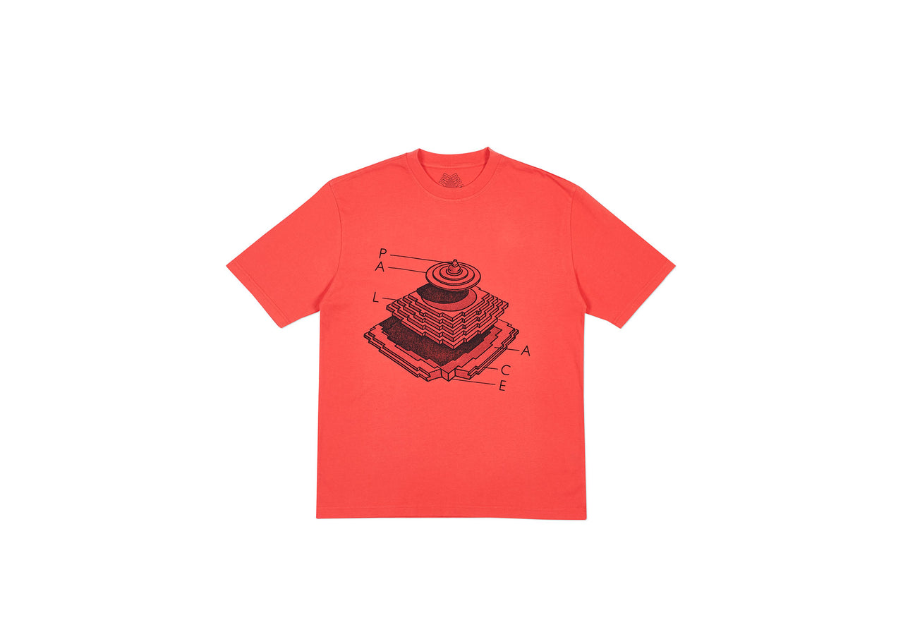 PYRAMIDAL T-SHIRT LIGHT RED