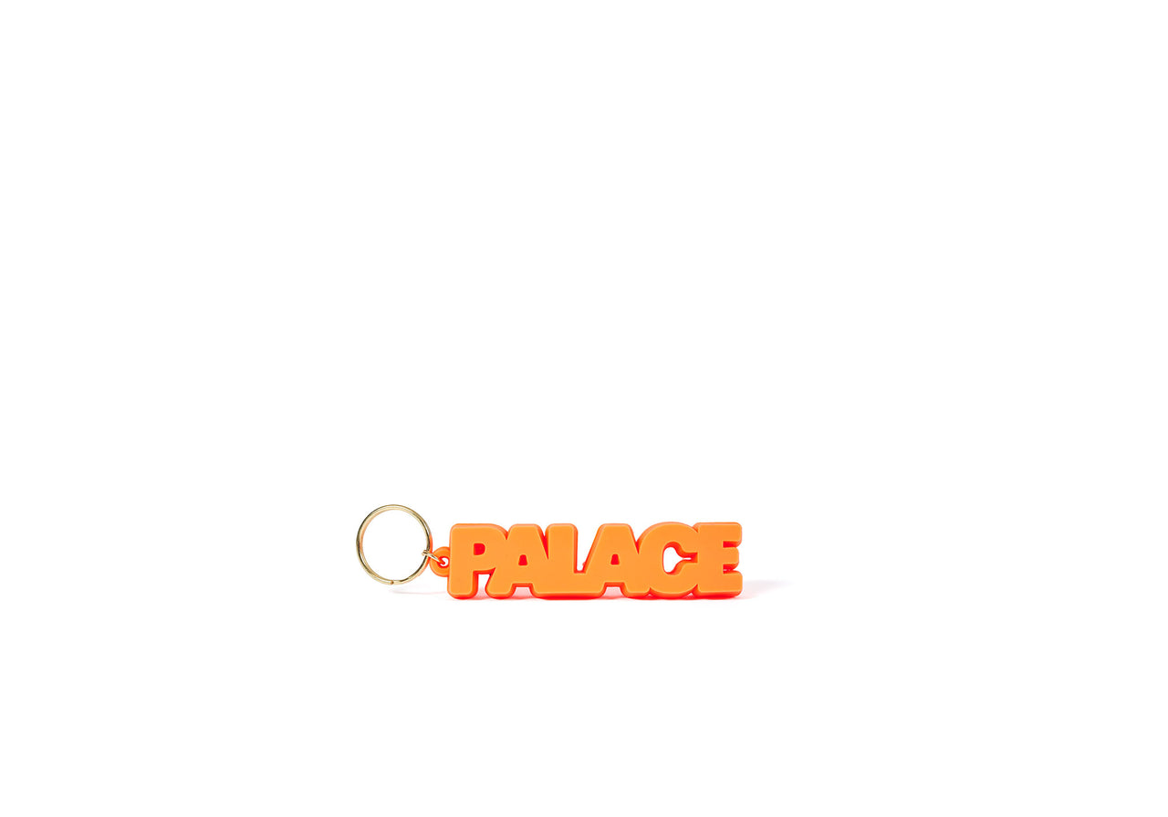 PALACE RUBBER KEYRING ORANGE