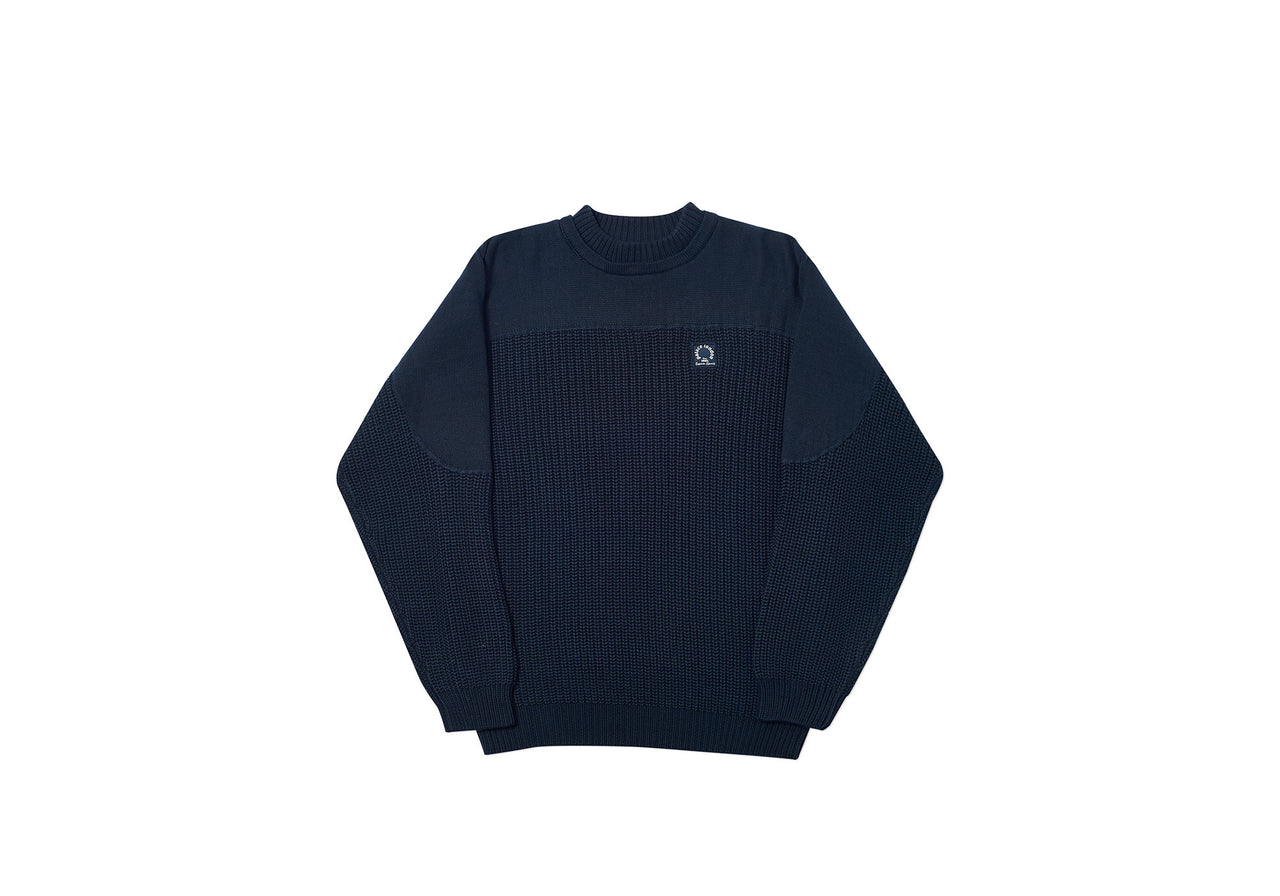 THICK CHUNK KNIT NAVY