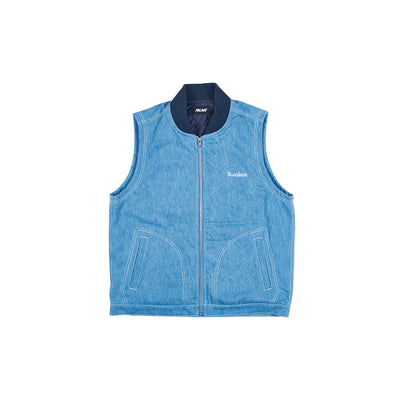 PJ GILET LIGHT STONEWASH