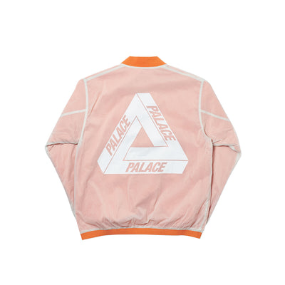 REVERSIBLE OVERLAY BOMBER ORANGE