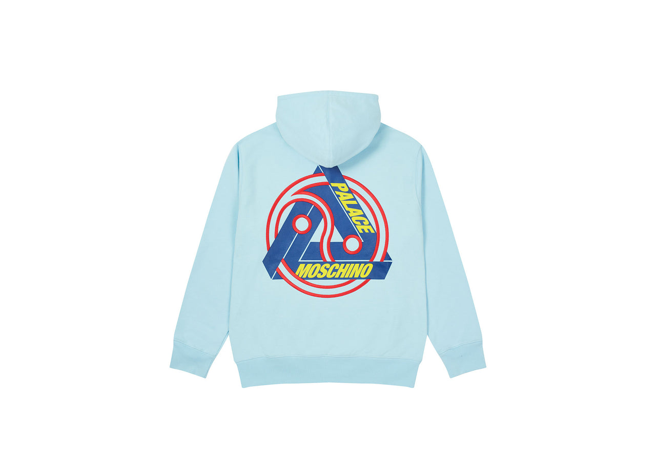 PALACE MOSCHINO HOOD BLUE