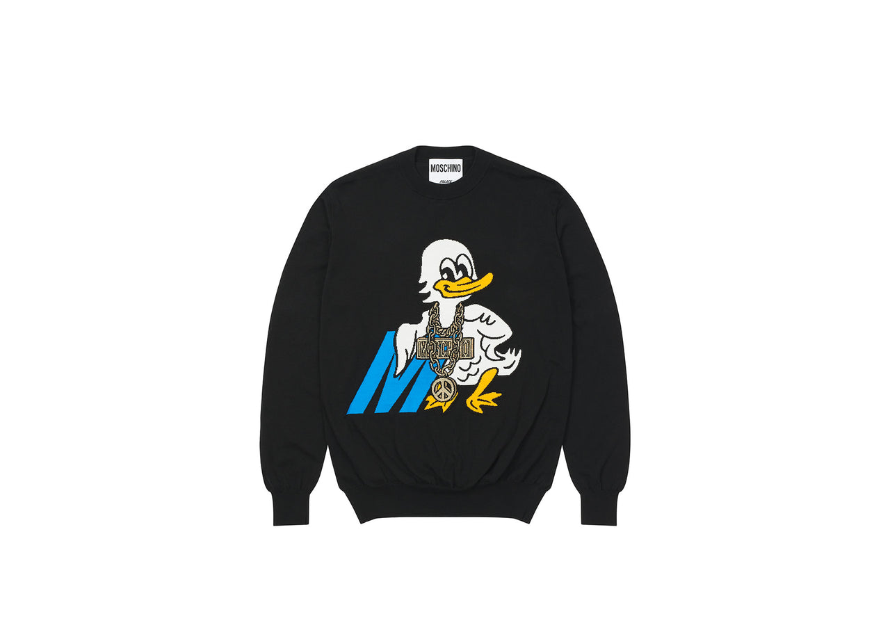 PALACE MOSCHINO KNITTED JUMPER BLACK