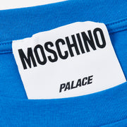 PALACE MOSCHINO T-SHIRT BLUE