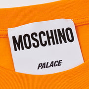 PALACE MOSCHINO T-SHIRT ORANGE