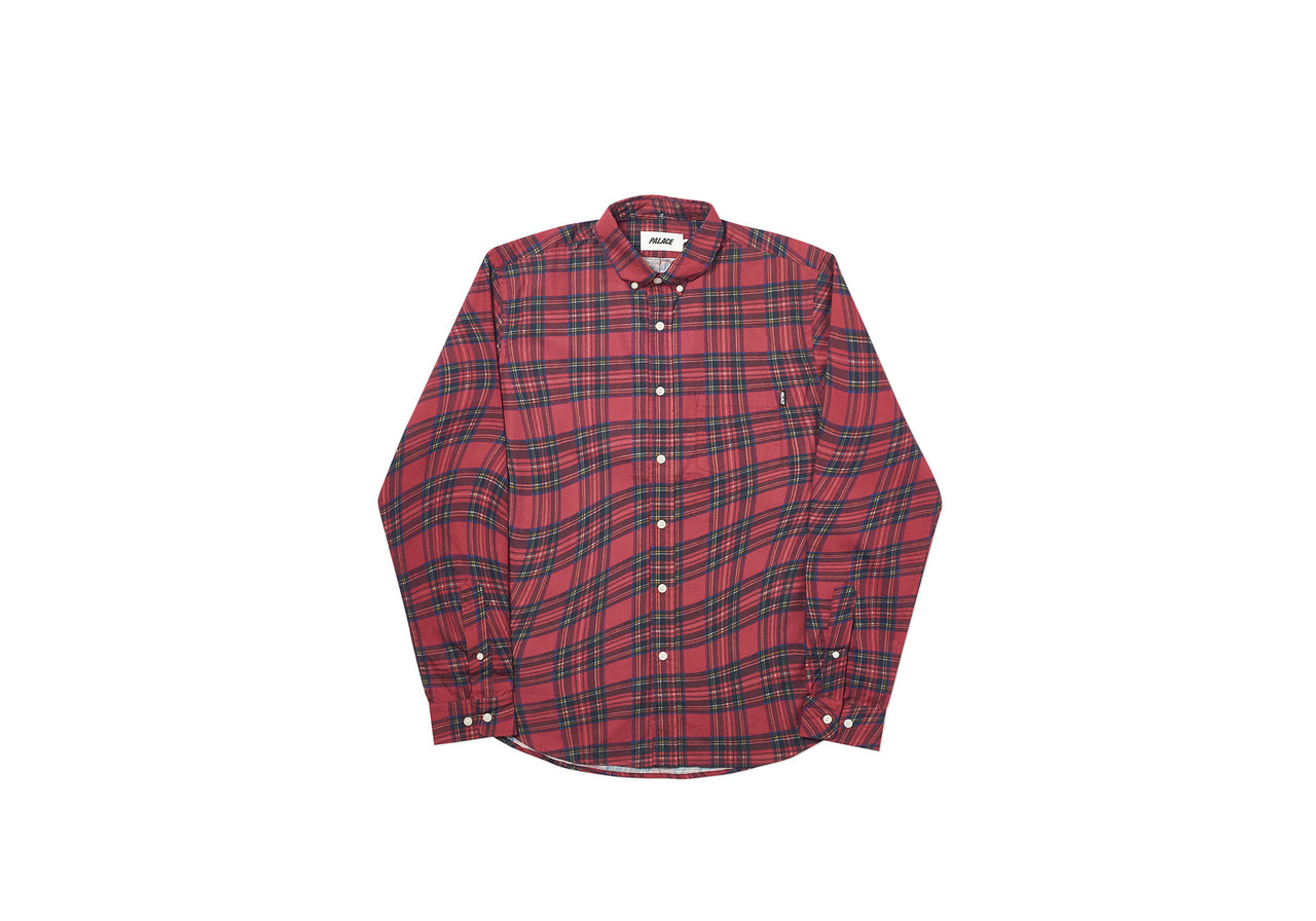 LUMBER WAVED SHIRT RED