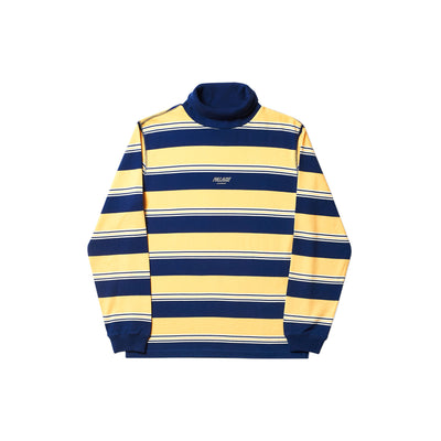 STRIPED HIGH ROLLER TOP YELLOW / WHITE / NAVY