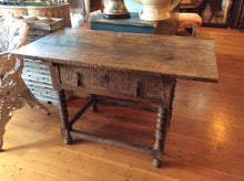 Spanish Colonial Side Table With Iron Hardware