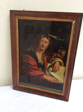 Pair of rosewood framed 19th century Saints Eglomise prints