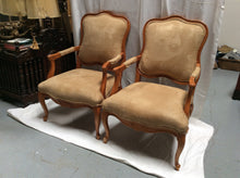 Pair of large 20th century French Style arm chairs