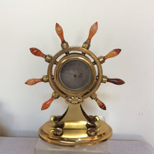 Agate and Brass Nautical Barometer Marshall & Son Edinburgh
