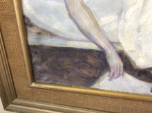 Early 20th century painting of a nude woman