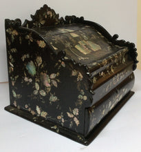 Papier-mâché laptop writing desk box