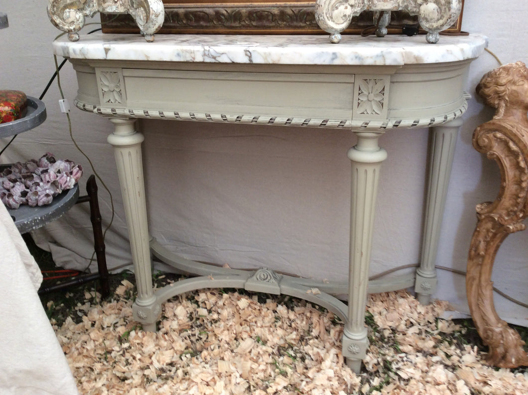 French Style Console With Marble Top