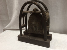 Antique southeast Asian elephant bell with stand