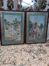 Pair of 18th Century Chinese Export Wallpaper Panels