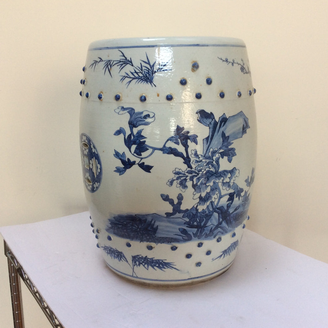 Blue and white Chinese Porcelain garden seat