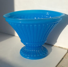 French Blue Opaline glass vase