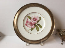 Sterling silver rimmed Floral plate Shreve and company SF