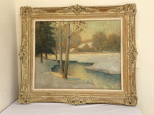 Landscape Winter Painting signed Emil Carlsen