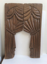 Pair of carved wood drapes for a horse drawn hearse