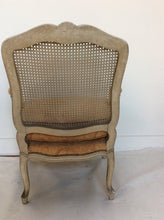 French Style Armchair Caned Back