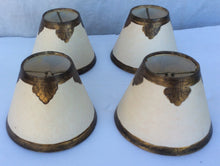 Set Of Four custom parchment and gold shades