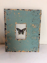 Pressed tin framed butterfly print