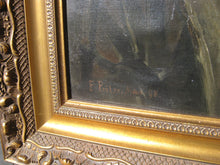 Antique Oil Painting By Friedrich Anton Otto Prolss
