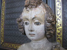 Antique Religious Carving With Glass Eyes