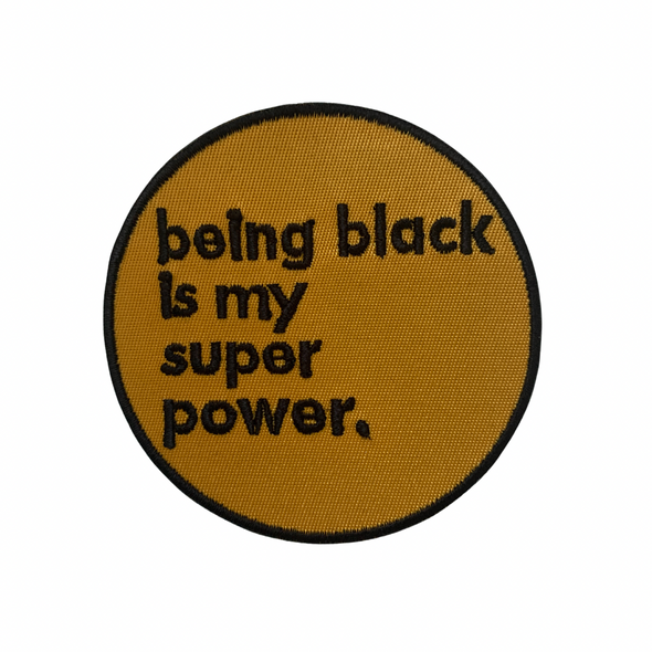 Black is Super Iron-On Patch