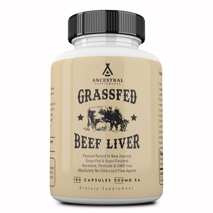 Grass Fed Desiccated Beef Liver Capsules by Ancestral Supplements