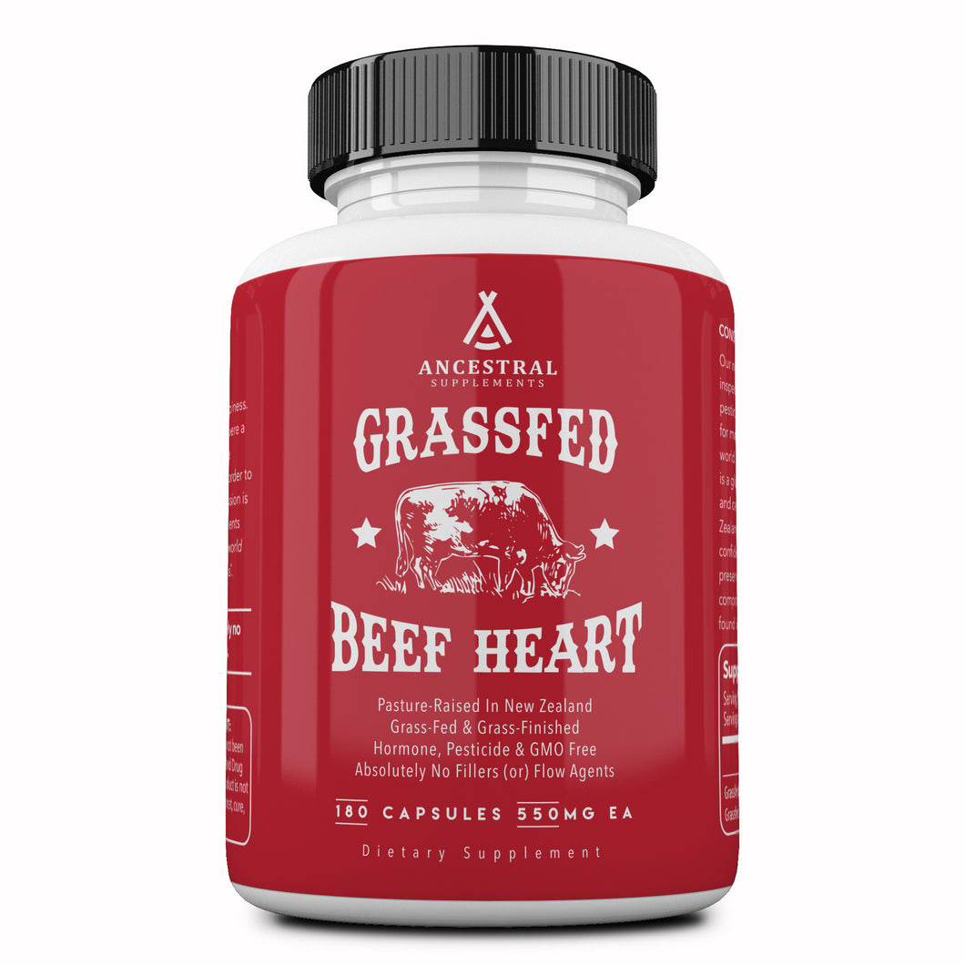 Grass Fed Desiccated Beef Heart by Ancestral Supplements