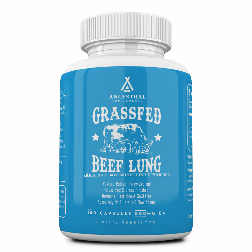 Grass Fed Beef Lung (w/ Liver) by Ancestral Supplements