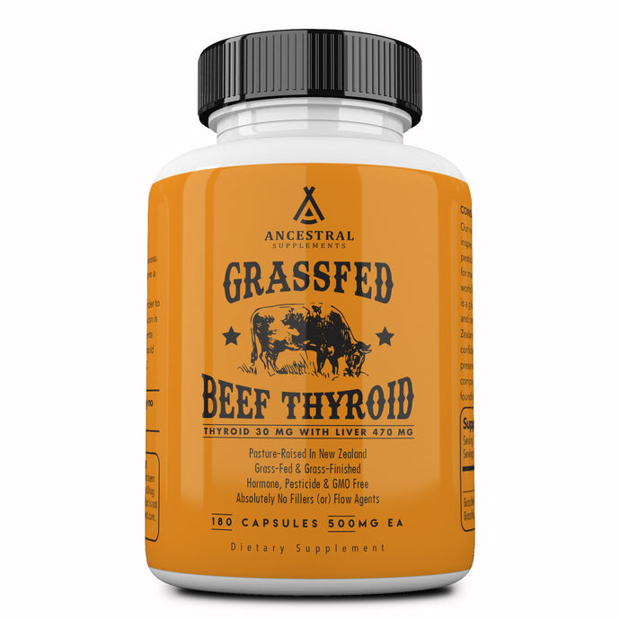 Grass Fed Natural Desiccated Thyroid by Ancestral Supplements
