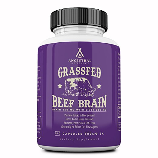 Grass Fed Beef Brain With Liver by Ancestral Supplements