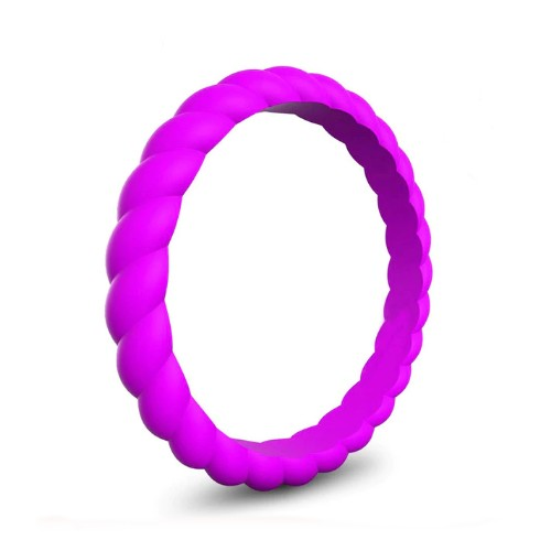 Spiral - Fuchsia Butterflies Silicone Ring