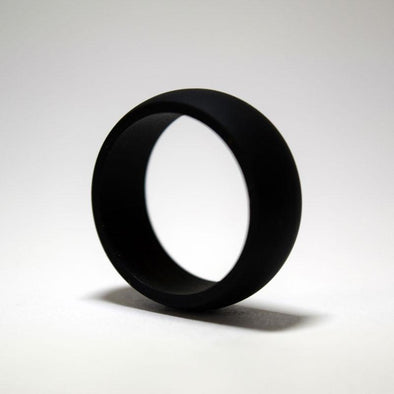 Paint It, Black Silicone Ring - Classic Width
