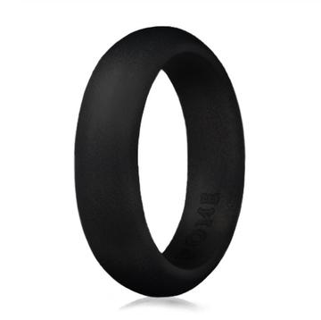 Paint It, Black Silicone Ring - Thin