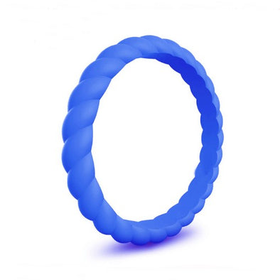 Spiral - Tangled Up In Blue Silicone Ring