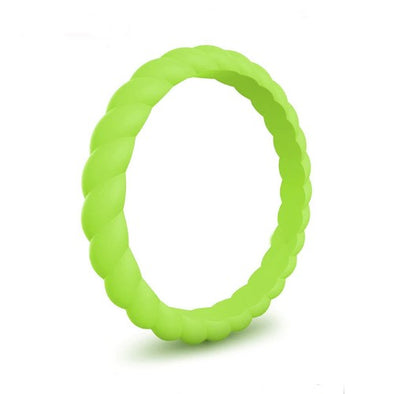 Spiral - Key Lime Pie Silicone Ring