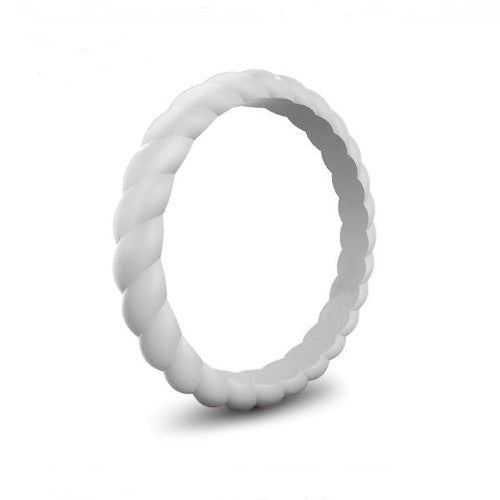 Spiral - Touch of Grey Silicone Ring