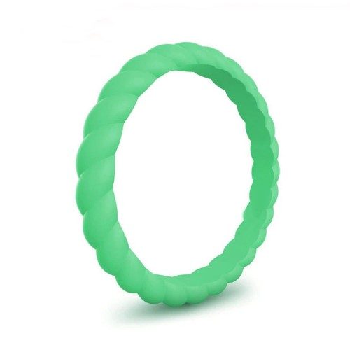 Spiral - Lucky Denver Mint (Green) Silicone Ring