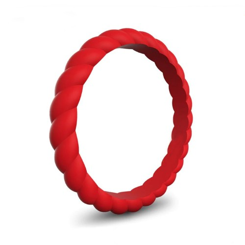 Spiral - Red Red Red Silicone Ring